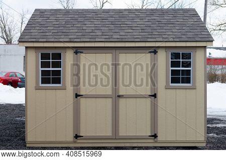 Wood Sheds Door Window Home Front Style Outdoor