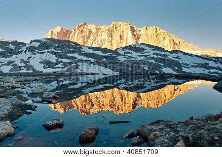Sierra Nevada Alpenglow Reflection