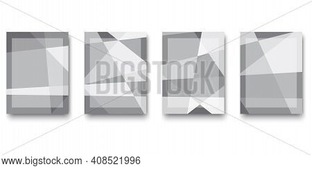 Abstract Gray Diamond Rectangles. Minimal Geometric Background. Gray Abstract Gradient Background. S