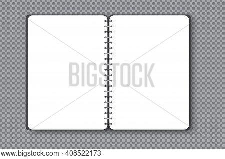 Blank Vertical Notebook Page. Business Organizer. Scrapbook Design. Brochure, Book, Magazine Templat