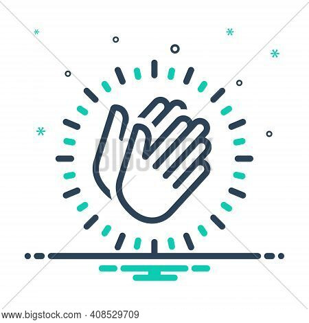 Mix Icon For Appreciate Applaud Hymn Eulogize Panegyrize Belaud Clapping Applause Cheerful Plaudit