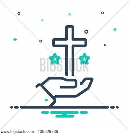 Mix Icon For Truth Veracity Reality Faith Religion Church