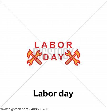 Labor Day Outline Icon. Element Of Labor Day Illustration Icon. Signs And Symbols Can Be Used For We