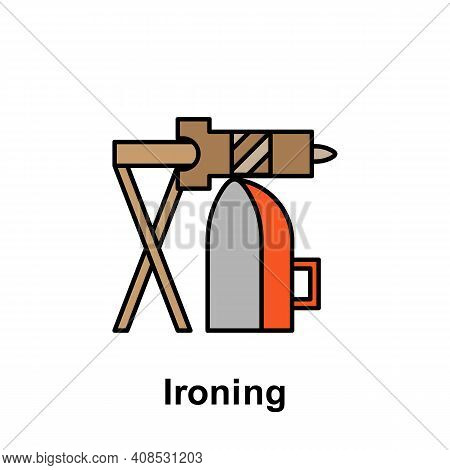 Ironing Outline Icon. Element Of Labor Day Illustration Icon. Signs And Symbols Can Be Used For Web,