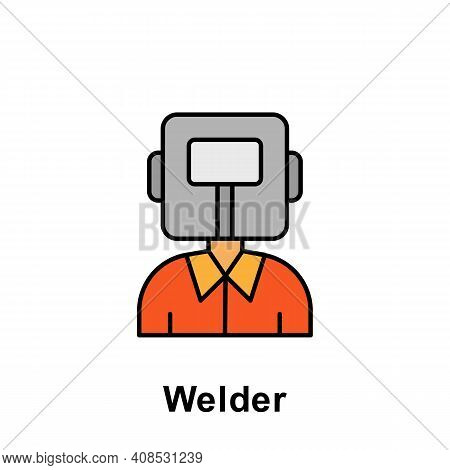 Welder Outline Icon. Element Of Labor Day Illustration Icon. Signs And Symbols Can Be Used For Web,