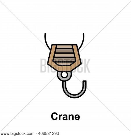 Crane Outline Icon. Element Of Labor Day Illustration Icon. Signs And Symbols Can Be Used For Web, L