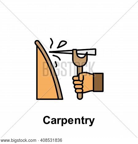 Carpentry Outline Icon. Element Of Labor Day Illustration Icon. Signs And Symbols Can Be Used For We