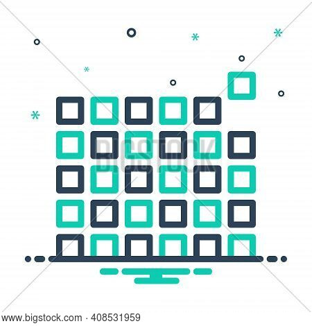 Mix Icon For Element Pixel Pattern Picture-element Raster Pel