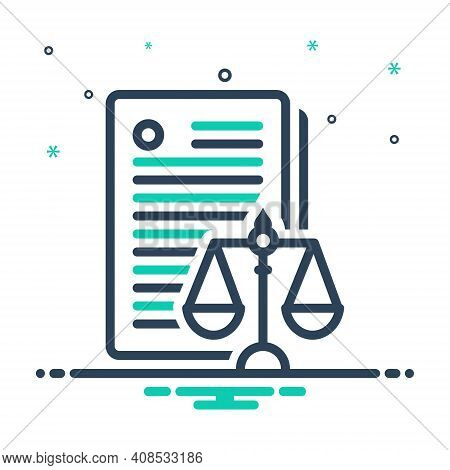 Mix Icon For Laws Enactment Law-and-order Politics Justice Balance Verdict