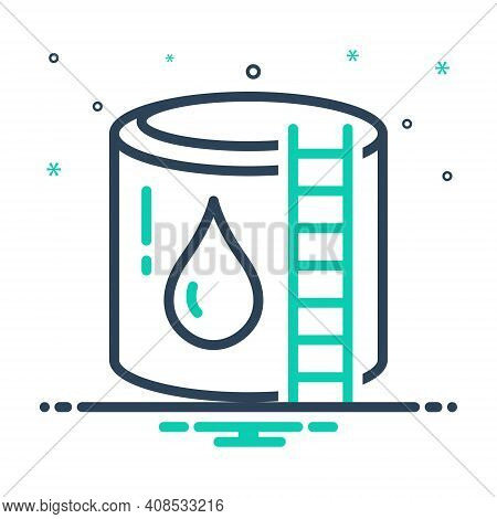 Mix Icon For Reservoir Cistern Storage Water-reservoir Container Supply Refinery