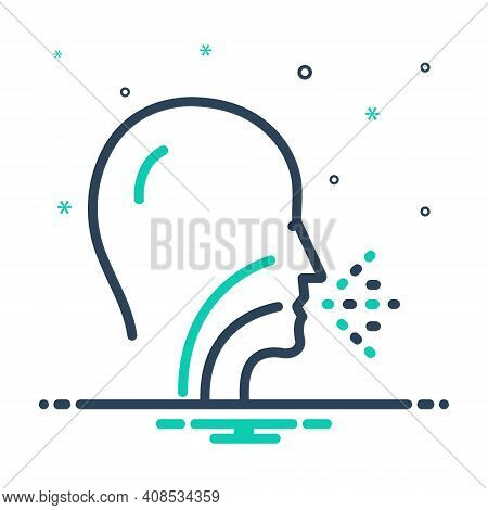 Mix Icon For Common Usual Generic Sneeze Bacteria Influenza Disease