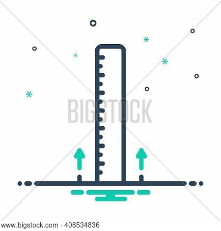 Mix Icon For Elevation Height Height-chart Altitude Loftiness Measurement Dimension