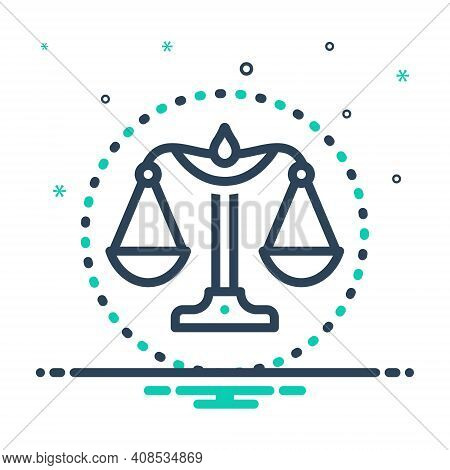 Mix Icon For Integrity Honesty Probity Honor Justice Magistrate Balance Equilibrium