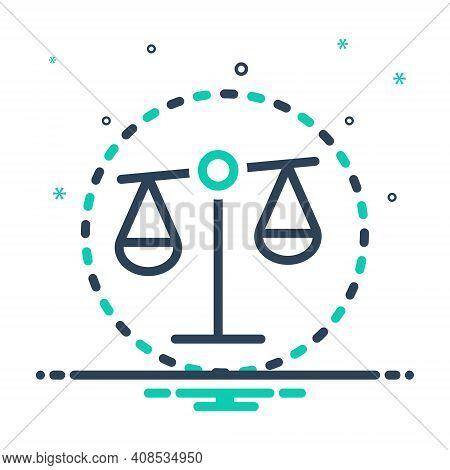 Mix Icon For Bias Prejudice Partiality Balance Equilibrium Justice