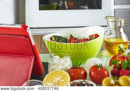 Foods To Cook From The Digital Recipe Virtual Online Master Class Tutorial Using Touch Tablet While