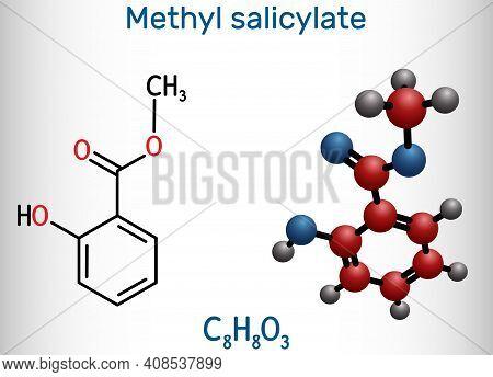Methyl Salicylate, Wintergreen Oil Molecule. It Is Methyl Ester Of Salicylic Acid, Flavouring Agent,