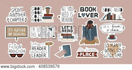 Set Of Hand Written Quotes In Stickers.