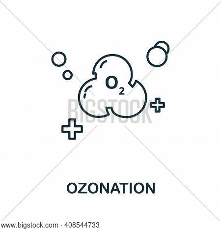 Ozonation Icon. Simple Illustration From Laundry Collection. Creative Ozonation Icon For Web Design,