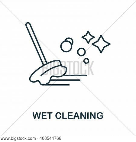 Wet Cleaning Icon. Simple Illustration From Laundry Collection. Creative Wet Cleaning Icon For Web D