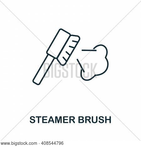 Steamer Brush Icon. Simple Illustration From Laundry Collection. Creative Steamer Brush Icon For Web
