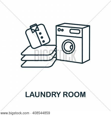 Laundry Room Icon. Simple Illustration From Laundry Collection. Creative Laundry Room Icon For Web D