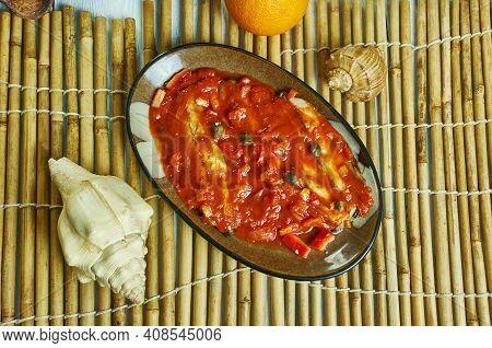 Sgombri Alla Marinara - Marinara Mackerel, Italian Dish