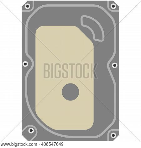 Computer Motherboard Vector Isolated On White Background
