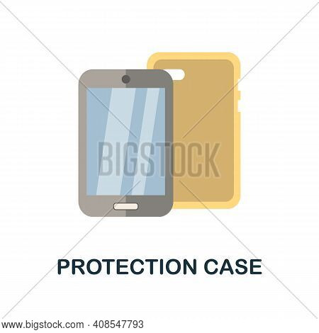 Protection Case Flat Icon. Color Simple Element From Phone Accessories Collection. Creative Protecti