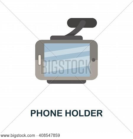 Phone Holder Flat Icon. Color Simple Element From Phone Accessories Collection. Creative Phone Holde