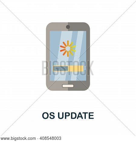 Os Update Flat Icon. Color Simple Element From Phone Accessories Collection. Creative Os Update Icon