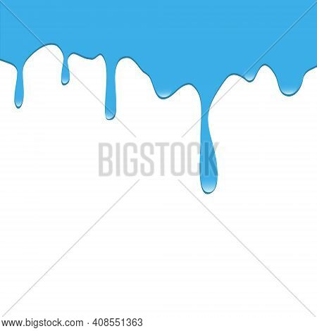 Dripping Blue Paint. Dripping Liquid. Fluid Fluid. Spilling Paint. Falling Paint. Fluid Oil Stain. A