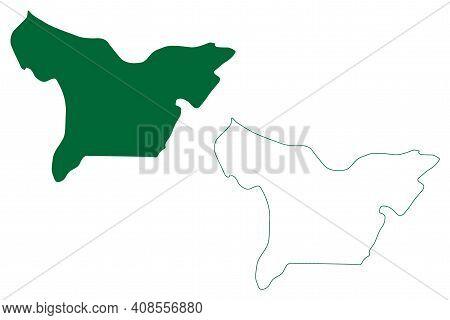 Lower Dibang Valley District (arunachal Pradesh State, Republic Of India) Map Vector Illustration, S
