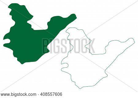 Papum Pare District (arunachal Pradesh State, Republic Of India) Map Vector Illustration, Scribble S