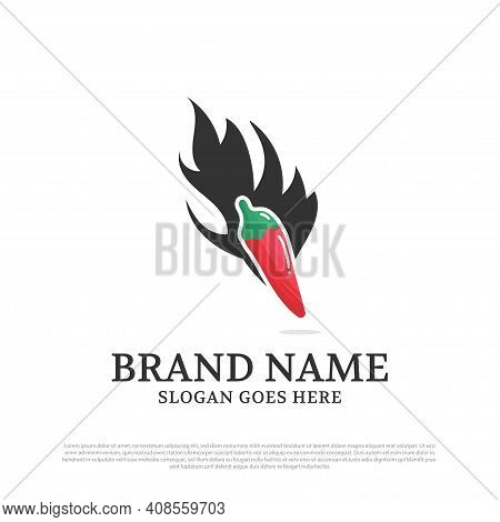 Chili And Black Flame Logo Designs Inspirations,best For Spicy Food Logo Brand Template