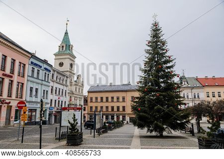 Neo-renaissance Town Hall, Christmas Tree, Square Of Bohemian Paradise With Baroque And Renaissance