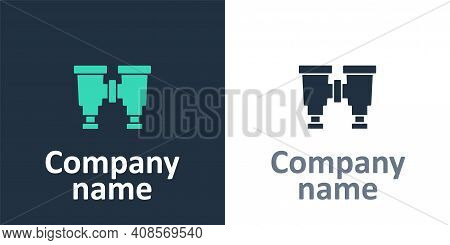 Logotype Binoculars Icon Isolated On White Background. Find Software Sign. Spy Equipment Symbol. Log