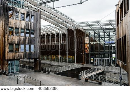 Oslo, Norway - August 11, 2019: Astrup Fearnley Museum Designed By Renzo Piano Architect In Tjuvholm