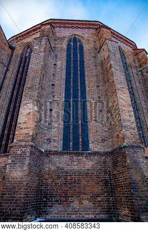 Frankfurt On The Oder, Brandenburg, Germany - February 14th, 2021: St. Marienkirche Church In Frankf