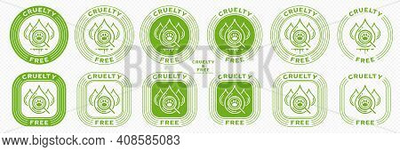 Concept For Product Packaging. Marking - Cruelty Free And Not Tested On Animals. Animal Test Drops S