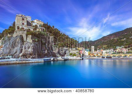 Monterosso Village, Harbor And Sea Bay. Cinque Terre, Liguria Italy