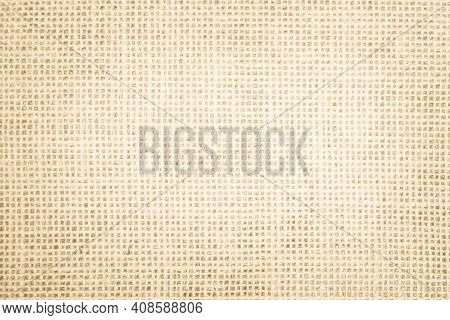 Jute Hessian Sackcloth Canvas Woven Texture Pattern Background In Light Beige Cream Brown Color Blan