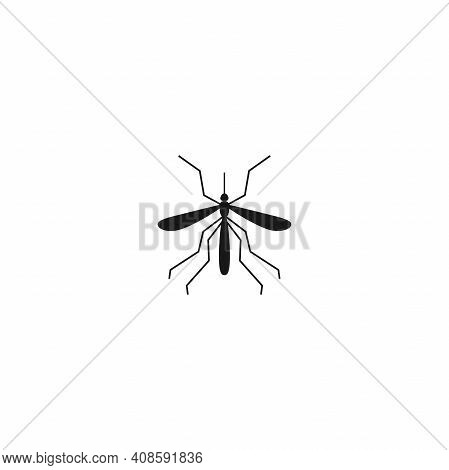 Mosquito Icon Vector. Flat Vector Pictogram Isolated On White Background.