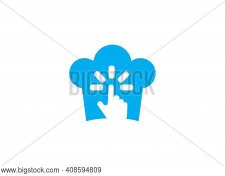 Baker Web Logo Design Online Vector On A White Background Illustration