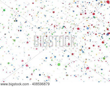 Color Ink Blots Urban Background. Texture Vector. Dust Overlay Distress Grain. Color Paint Splatter
