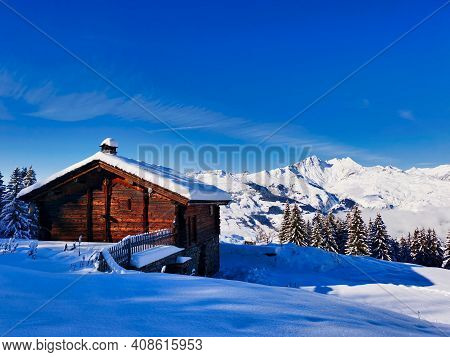 Beautiful Mountain Chalet In The French Alps, Ski Resort Les Arcs 1800.