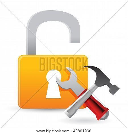 Unlock Tools Concept