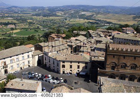 Orvieto (tr), Italy - May 10, 2016: View Of Orvieto From The Panoramic Tower, Terni, Umbria, Italy