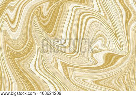 Earth Tone Brown Gold Shining Marble Pattern Texture Abstract Background. Illustration.