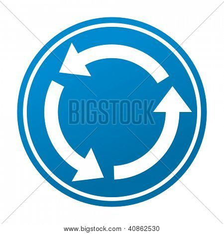 vector round road sign with arrows