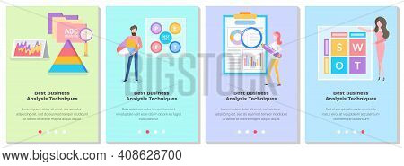 Set Of Illustrations On The Topic Of People Studying The Best Business Analysis Techniques. Website